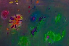 Hintergrund einer hellen Acrylfarben-Palettennahaufnahme schlaf Hintergrund Beschaffenheit Stockfotos
