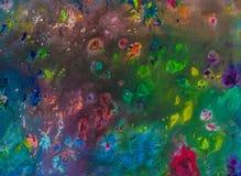 Hintergrund einer hellen Acrylfarben-Palettennahaufnahme schlaf Hintergrund Beschaffenheit Lizenzfreie Stockfotos