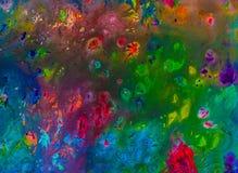 Hintergrund einer hellen Acrylfarben-Palettennahaufnahme schlaf Hintergrund Beschaffenheit Lizenzfreies Stockbild