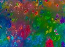 Hintergrund einer hellen Acrylfarben-Palettennahaufnahme schlaf Hintergrund Beschaffenheit Stockbild