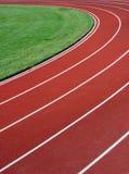 Hintergrund einer Rennbahn Stockfotos