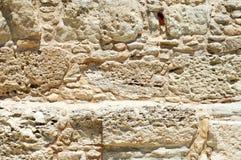 Hintergrund einer Wand des Kalksteins Lizenzfreie Stockfotografie
