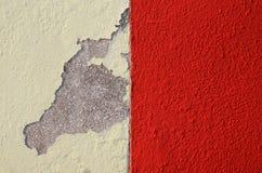 Hintergrund einer Wand von zwei Farben Stockbilder