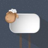 Hintergrund eines abstrakten Schafs Papierkarte Lizenzfreie Stockfotografie