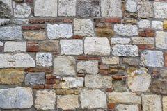 Hintergrund eines alten Steinziegelsteines wal Lizenzfreie Stockfotos