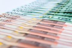 Hintergrund einiger Eurobanknoten Lizenzfreie Stockfotos