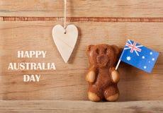 Hintergrund für australischen Tag Stockbild