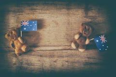 Hintergrund für australischen Tag Stockfotografie