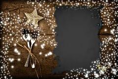 Hintergrund für das Schreiben des Weihnachtsmenüs Stockfotos