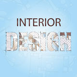 Hintergrund für Design des Innenraums Stockfoto