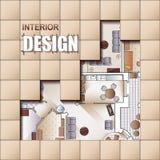 Hintergrund für Design des Innenraums lizenzfreie abbildung