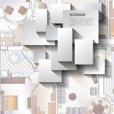 Hintergrund für Design des Innenraums Lizenzfreie Stockbilder