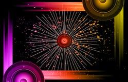 Hintergrund für Disco und musikalischen Ereignis-Flieger Stockfotografie