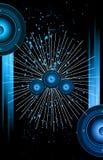 Hintergrund für Disco und musikalischen Ereignis-Flieger Stockfoto