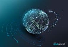 Hintergrund für eine Einladungskarte oder einen Glückwunsch Glühender Lichteffekt des Vektors Abstraktes Bild eines Planeten gema lizenzfreie abbildung