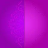 Hintergrund für Einladung mit violettem Blumen Stock Abbildung