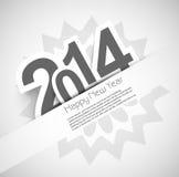 Hintergrund für Feierkarte 2014 des neuen Jahres Stockfotografie