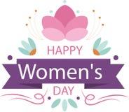 Hintergrund für Frauen ` s Welttag Lizenzfreie Stockbilder