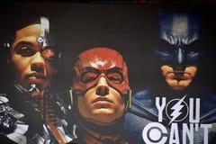 Hintergrund für Gerechtigkeits-League-Film Lizenzfreies Stockbild