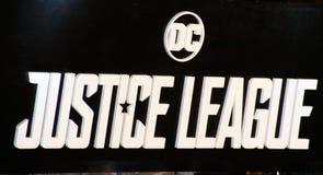 Hintergrund für Gerechtigkeits-League-Film Lizenzfreie Stockfotografie