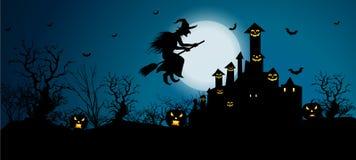 Hintergrund für Halloween-Feiern stock abbildung