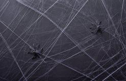 Hintergrund für Halloween Graue Beschaffenheit Spinne ` s Netz Lizenzfreie Stockfotografie