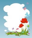 Hintergrund für Ihren Text mit roten Mohnblumen Lizenzfreie Stockfotografie