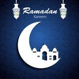 Hintergrund für moslemischen Gemeinschaftsfestival-Vektor Stockfotos