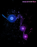 Hintergrund für Musik-Ereignis-Flieger Lizenzfreies Stockfoto