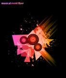 Hintergrund für musikalisches Ereignis-Flugblatt Lizenzfreie Stockfotos