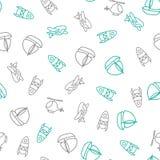 Hintergrund für nette kleine Jungen Transportdruck Kritzeln Sie nahtloses Muster der Art auf dem Thema der Kindheit mit Lizenzfreies Stockbild
