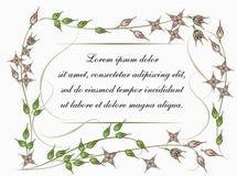Hintergrund für Text mit Blumen in der Weinleseart Lizenzfreies Stockbild