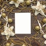 Hintergrund für Text mit Gold und Weihnachten Stockbilder