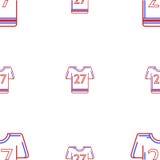 Hintergrund für Uniform des amerikanischen Fußballs Stockbilder