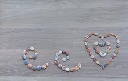 Hintergrund für Valentinsgruß ` s Tag Herzen und Locken von mehrfarbigem Stockbilder