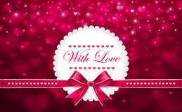 Hintergrund für Valentinstag mit Bogen Stockbilder