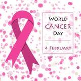 Hintergrund für Weltkrebs-Tag Lizenzfreies Stockbild