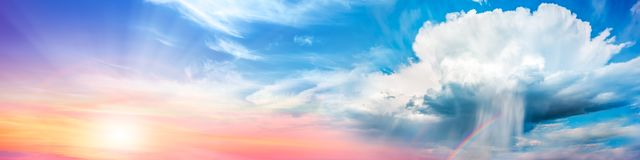 Hintergrund-Fahne von Cumulonimbus Supercell vektor abbildung