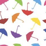 Hintergrund-Farbfliegenregenschirme Lizenzfreie Stockfotos