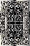 Hintergrund-Feldkarte der vektorweinlese barocke stock abbildung