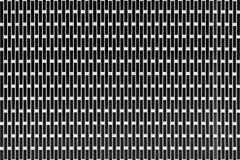 Hintergrund in Form einer Metalloberfläche mit rechteckigen Löchern als Platz für die Platzierung des Textes Stockfotografie