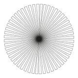 Hintergrund in Form einer schwarzen Kugel von Strahlen vektor abbildung