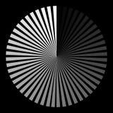Hintergrund in Form eines weißen Balls des Strahlnwindens lizenzfreie abbildung