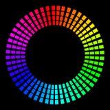 Hintergrund in Form von farbigen Strahlen in Form eines Kreises auf einem Schwarzen Vektorillustration für Webdesign vektor abbildung