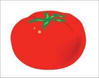 Hintergrund. Früchte. Eine rote reife saftige Tomate Lizenzfreie Stockfotografie