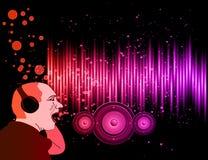 Hintergrund für Disco und musikalischen Ereignis-Flieger Lizenzfreies Stockfoto