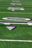 Hintergrund-Fußballplatz Stockfotos