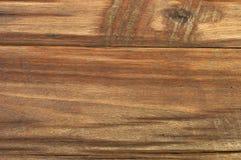Hintergrund gemacht vom alten braunen Holztisch Stockfotos