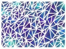 Hintergrund gemacht von den Dreiecken auf einem weißen Hintergrund Stockfotografie