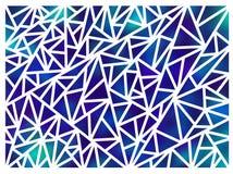 Hintergrund gemacht von den Dreiecken auf einem weißen Hintergrund Stockfoto